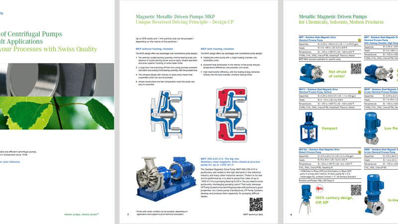 La nouvelle présentation des pompes centrifuges de CP Pumpen est prête !