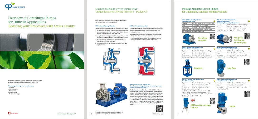CP pumps ovierview centrifugal pumps